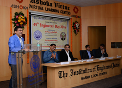 49th Engineers Day 2016 at IEI-NLC's Ashoka Virtue Auditorium, Nashik