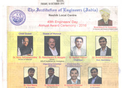 Engineering Award, Oct 2016